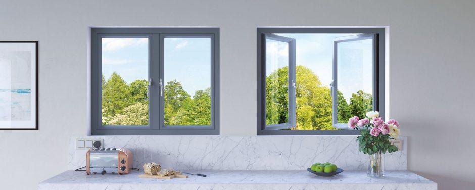 Kitchen origin Aluminium Window Anthracite