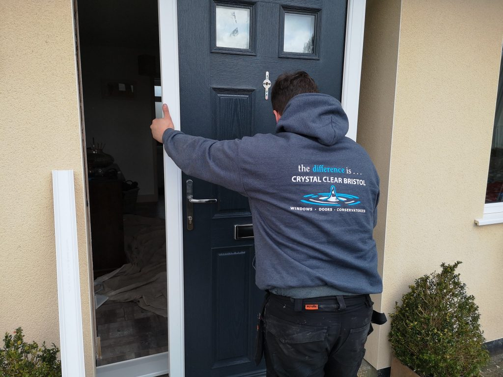 Fitting a new composite front door