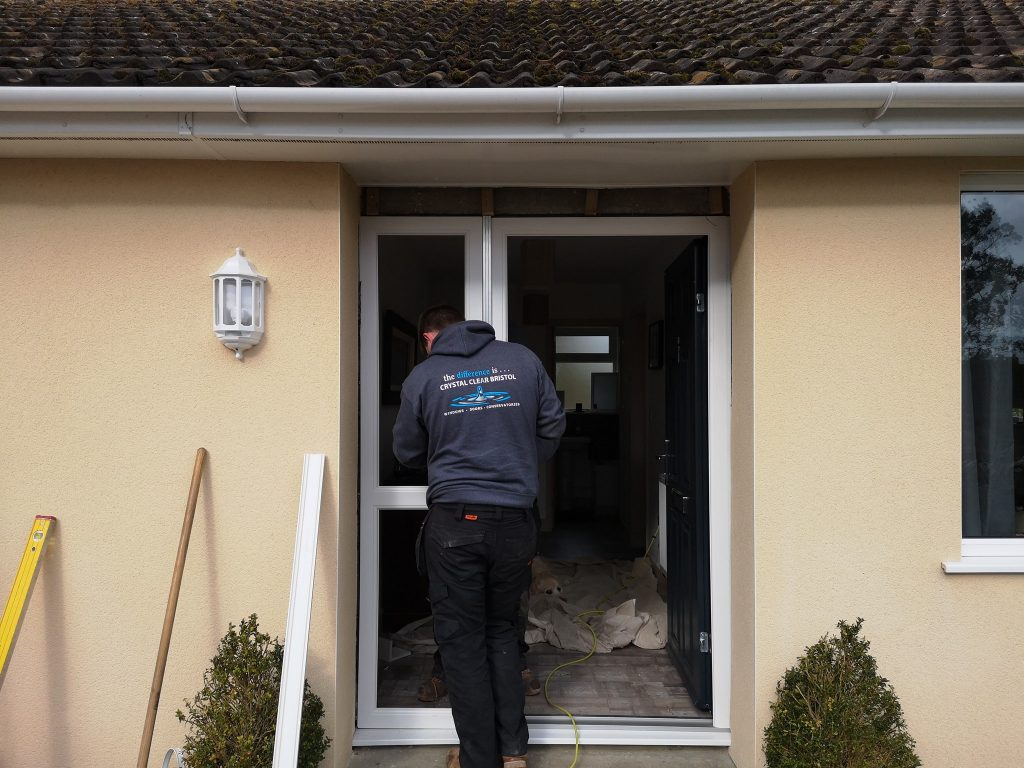 Adjustments being made whilst Front Door Fitted in Luckington