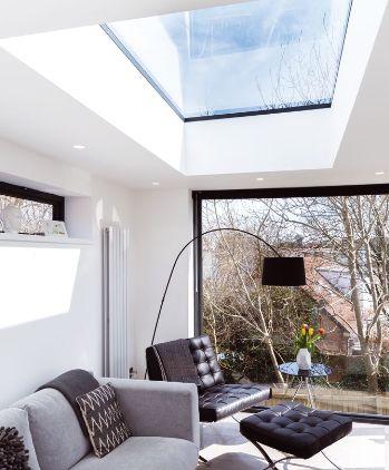 rooflight in modern living room